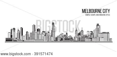 Cityscape Building Abstract Shape And Modern Style Art Vector Design -   Melbourne City