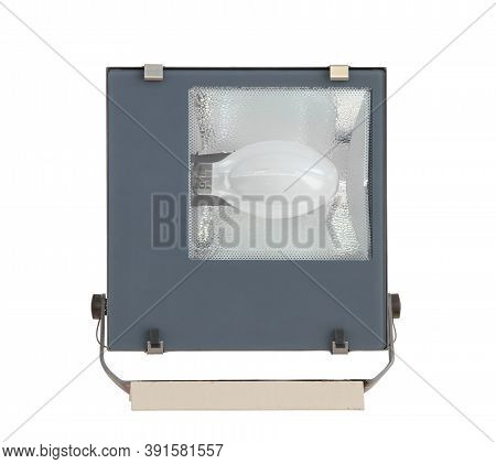 Square Spotlight For Industry (with Clipping Path) Isolated On White Background