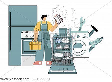Master, Repair Master Home Electronics Appliances Dishwasher, Refrigerator, Microwave, Gas Stove, Wa