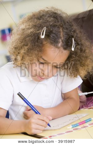 Portrait Of Children Learning Numeracy
