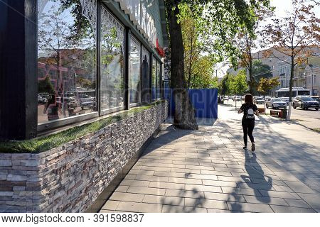 Rostov-on-don, Russia - September 8, 2020: View Along Bolshaya Sadovaya Street Next To Beautifully D
