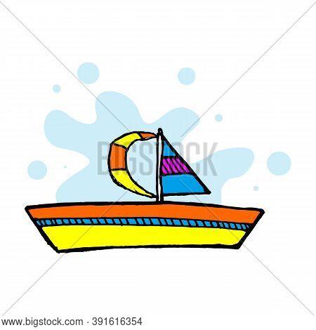 Cruise Ship Logo Template Vector Icon Illustration Design, Ship Logo, Nautical Sailing Boat Icon Vec