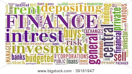Financial Related Keyword Info-text Graphic And Arrangement.
