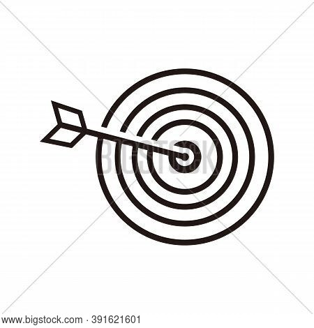 Abstract Target Icon. Marketing Target Icon Vector Target Icon. Image Target Icon. Color Target Icon