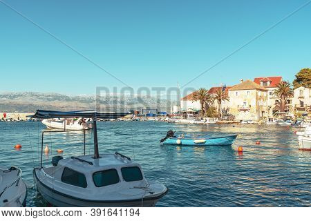 Sutivan Town On The Island Of Brac, Adriatic Sea, Croatia.
