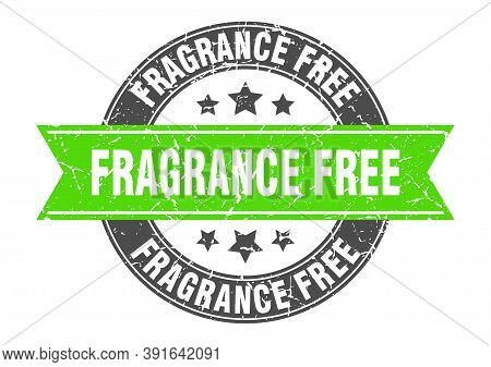 Fragrance Free Round Stamp With Ribbon. Label Sign