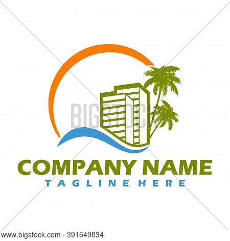 Logotype For Housing, Construction, With New Energies, Illustration Vector Design, Easy To Edit Logo