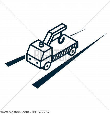 Wrecker Service Logo Vector Image, Illustration Vector Design, Easy To Edit Vector Design, Eps Vecto