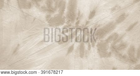Brown Style Shibori. Ink Vintage Zigzag. Watercolor Spotted Print. Gray Boho Ethnic Wallpaper. Tie D
