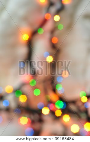 Abstract New Year Background, Beautiful Garland Lights
