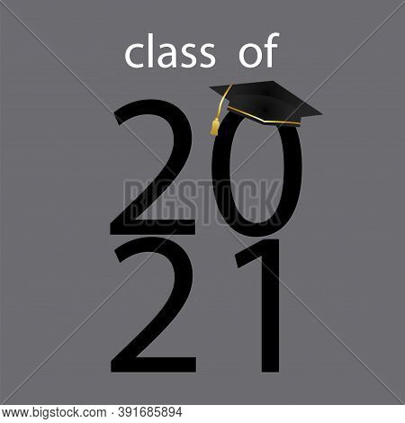 Vector Illustration For Graduation Ceremony 2021. Certificate Of Education. End Of Training. Stock I