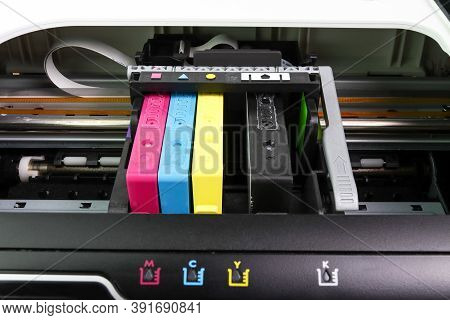 An Ink Cartridge Or Inkjet Cartridge Is A Component Of An Inkjet Printer That Contains The Ink Four