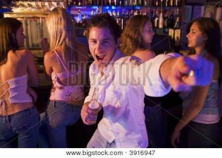 Young Man In A Bar