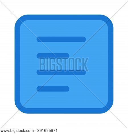 Paragraph Left Alignment Icon - Vector Illustration. Text Editor Left Align Symbol.