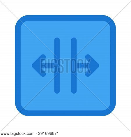 Edit Font Width Icon Illustration. Text Editor Button Sign.