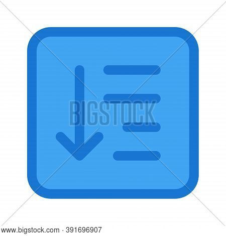 Sorting Items Vector Icon Illustration Isolated On White Background. Document Text Editor Button Sig