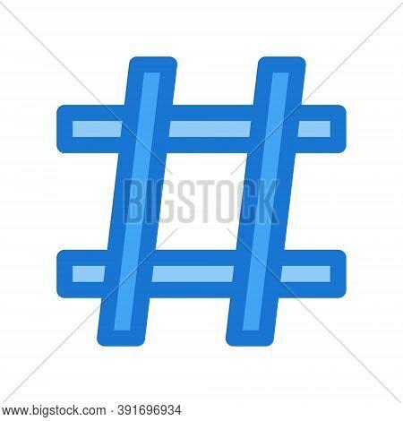 Blue Hashtag Icon - Vector Illustration. Social Media Posts Hashtag Sign.