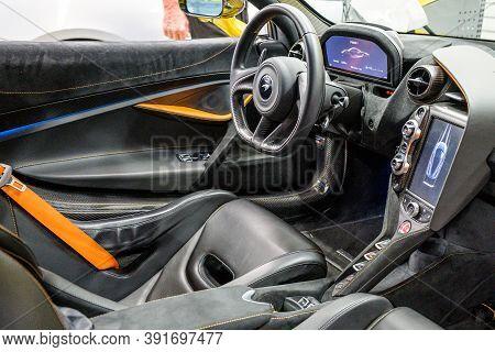 06.09.2018 Interior Of Mclaren 720s Spider Hypercar Super Sportscar