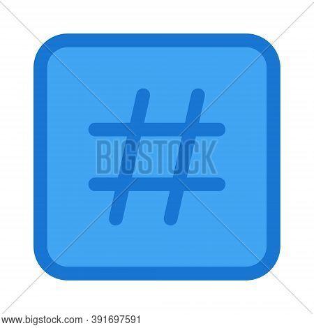 Hashtag Icon - Vector Illustration. Social Media Posts Hashtag Sign.