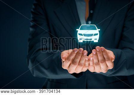 Car (automobile) Insurance Collision Damage Waiver And Another Car Services Concepts. Insurer (insur