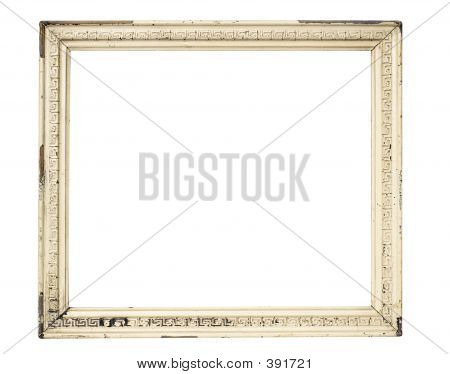 Weathered White Picture Frame W/ Path