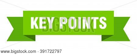 Key Points Ribbon. Key Points Isolated Band Sign. Key Points Banner