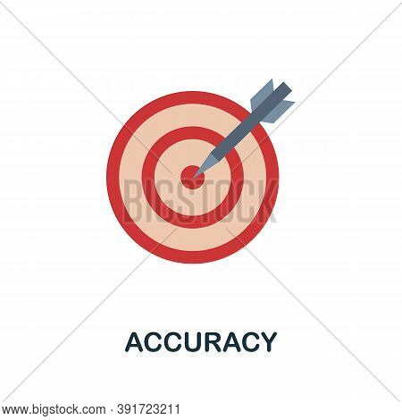 Accuracy Icon. Simple Element From Core Values Collection. Creative Accuracy Icon For Web Design, Te