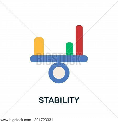 Stability Icon. Simple Element From Core Values Collection. Creative Stability Icon For Web Design,