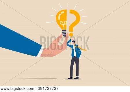 Business Problem, Idea, Decision Making And Solution, Job And Career Path Concept, Confusing Busines