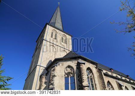 Moenchengladbach City In Germany. Citykirche Alter Markt - Roman Catholic Church Of Assumption Of Ma