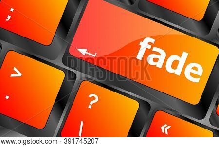 Fade Word On Keyboard Key, Notebook Computer Button