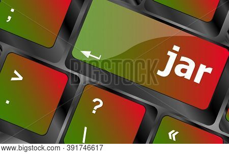 Jar Word On Computer Keyboard Pc Key
