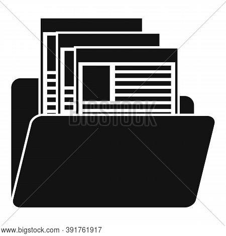 Internship Folder Icon. Simple Illustration Of Internship Folder Vector Icon For Web Design Isolated