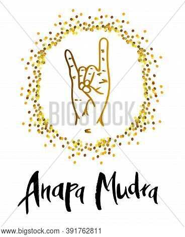 Anapa Mudra - A Gesture With Your Fingers. Symbol In Concept Of Buddhism Or Hinduism. Mudra Cleanses