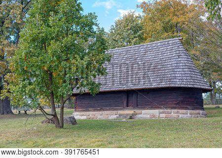 Old Wooden Orthodox Church In Serbia Balkans
