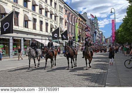 Oslo, Norway - 27 Jun 2012: Karl Johans Street, Oslo, Norway