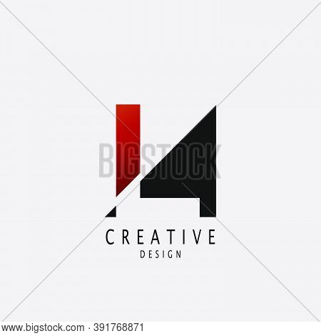 Abstract Techno Letter L Logo. Vector Design Concept Geometrical Shape With  Letter L  Logo Icon.
