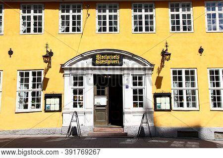 Oslo, Norway - 27 Jun 2012: The Vintage House On Karl Johans Street, Oslo, Norway