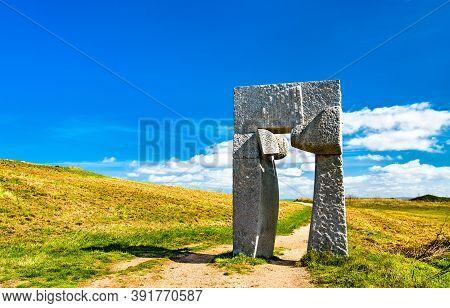 The Ara Solis Sculpture At The Tower Of Hercules In A Coruna, Spain
