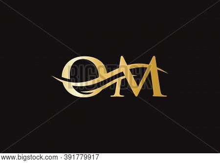 Premium Vector Om Logo. Beautiful Logotype For Luxury Branding. O M Elegant And Stylish Logo Design