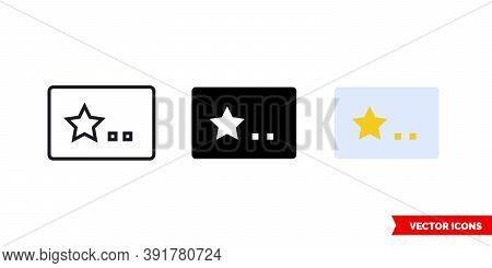 Membership Card Icon Of 3 Types Color, Black And White, Outline. Isolated Vector Sign Symbol.