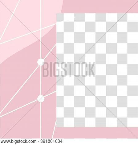 Pink Floral Post. Cute Abstract Social Media Post Template. Social Announcement Promotion, Post Adve
