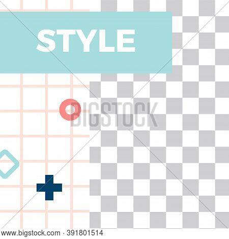 Memphis Style Post. Trendy Abstract Style Social Media Post Template. Business Contemporary Post, So