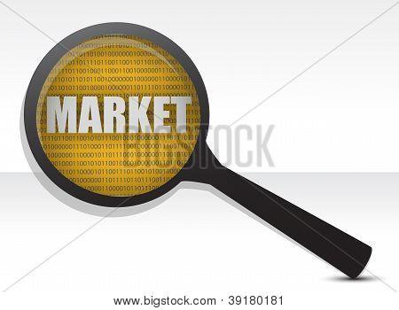 Market Under A Magnifier