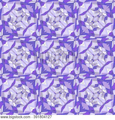Beautiful Seamless Background With Amethyst Crystals. There Is An Option In The Vector.