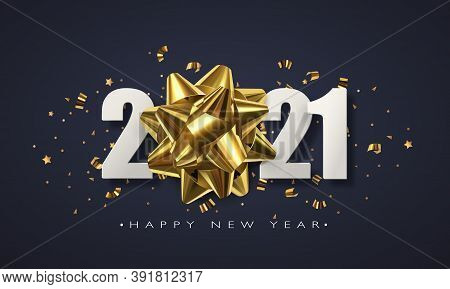 Happy New 2021 Year. Winter Holiday Greeting Card Design Template. New Year Holiday Posters. Happy N