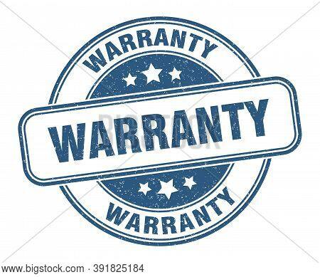 Warranty Stamp. Warranty Round Grunge Sign. Label
