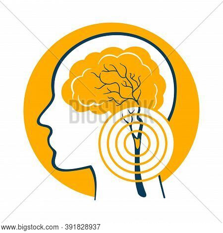 Cerebrovascular Icon - Disease That Affect The Blood Vessels Of Brain And Cerebral Circulation And D