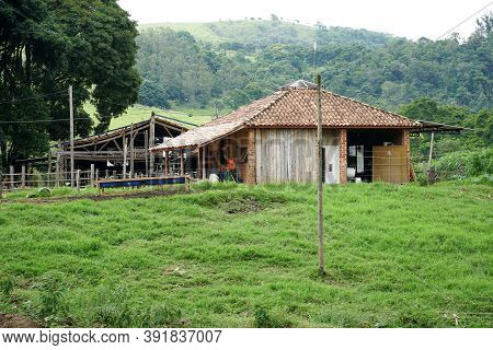 Old Cheese Farm Fazenda Atalaia In Amparo, State Of Sao Paulo, Brazil. Rural Tourism. October 3rd, 2