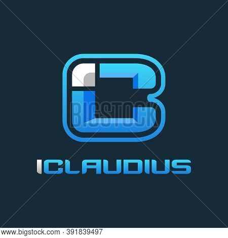Initial Logo Design Ic Is Blue Or Brand